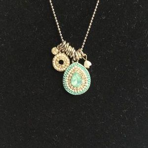 Dainty Necklace Blue Stone